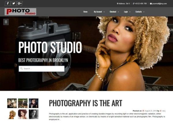 Free Photo Studio WordPress theme