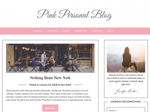 Free Pink Personal Blogily WordPress theme