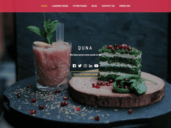Free Quna Wordpress theme
