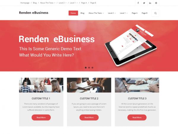Free Renden eBusiness WordPress theme