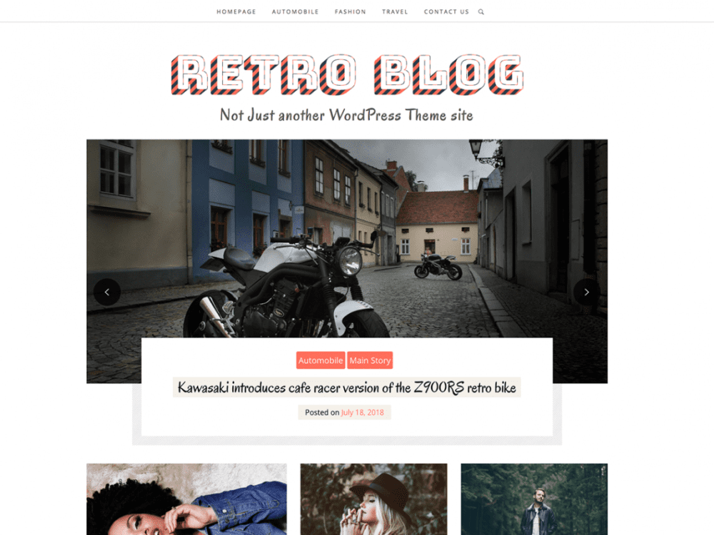 Free Retro Blog WordPress theme