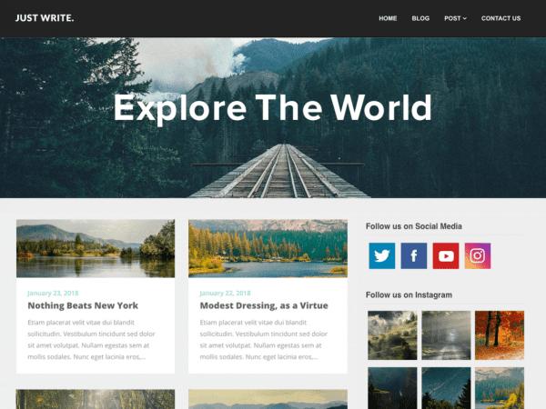 Free SEO Writers Blogily WordPress theme