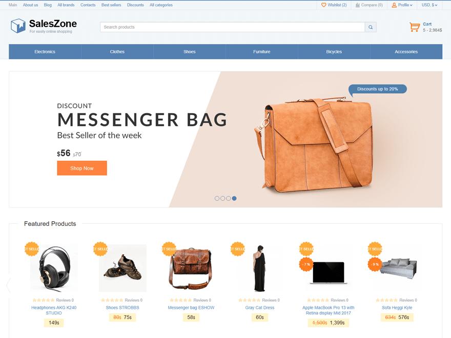 Free SalesZone WordPress theme
