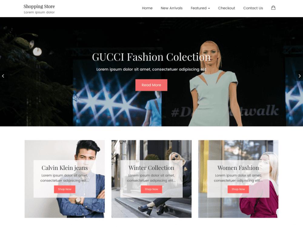 Free Shopping Store Lite WordPress theme
