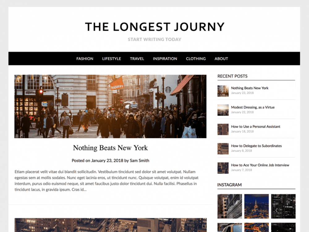 Free Simple ResponsiveBlogily WordPress theme
