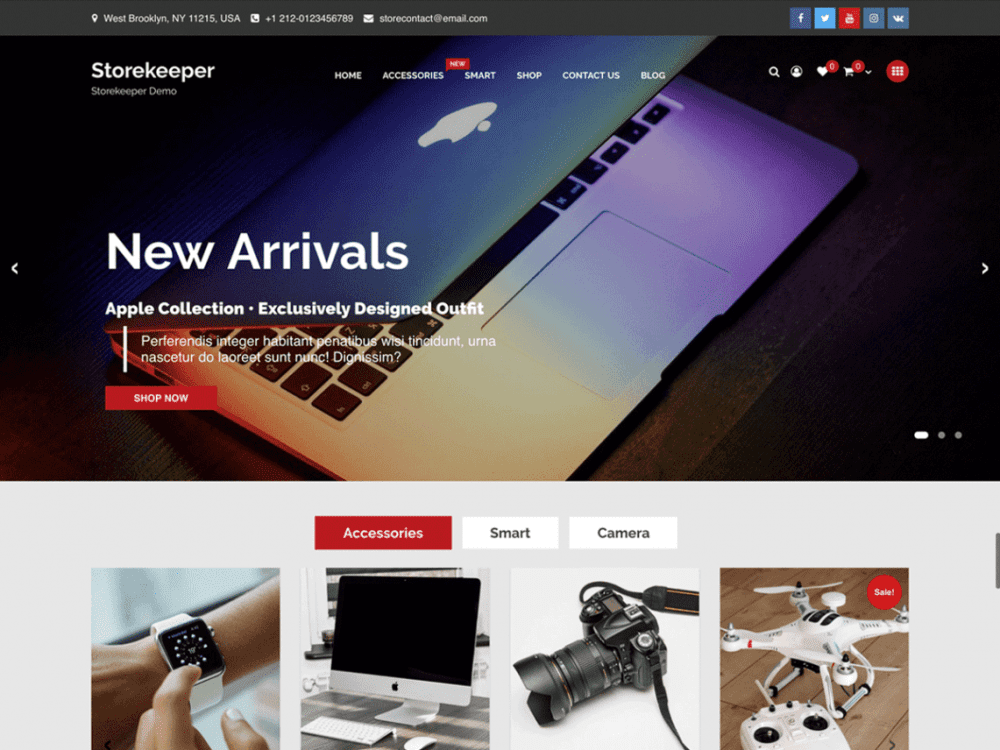 Free Storekeeper WordPress theme