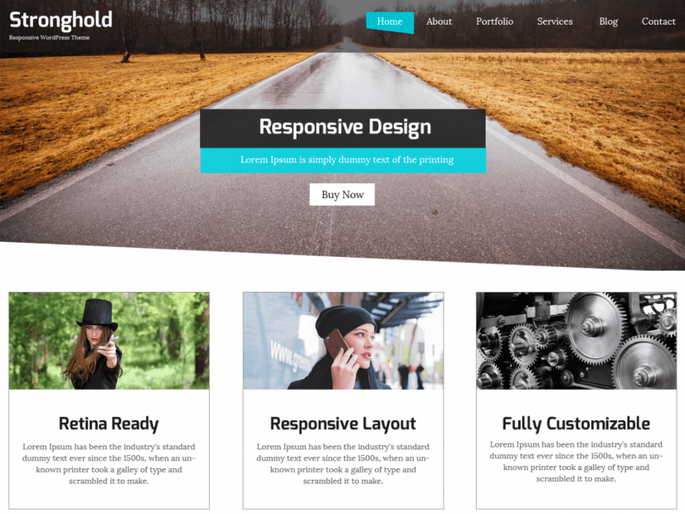 Free StrongHold WordPress theme