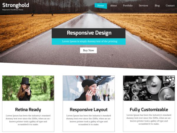 Free StrongHold WordPress theme