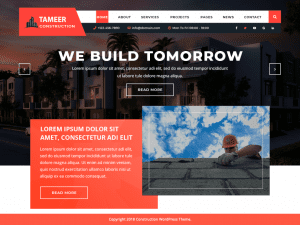 Free Tameer Construction WordPress theme