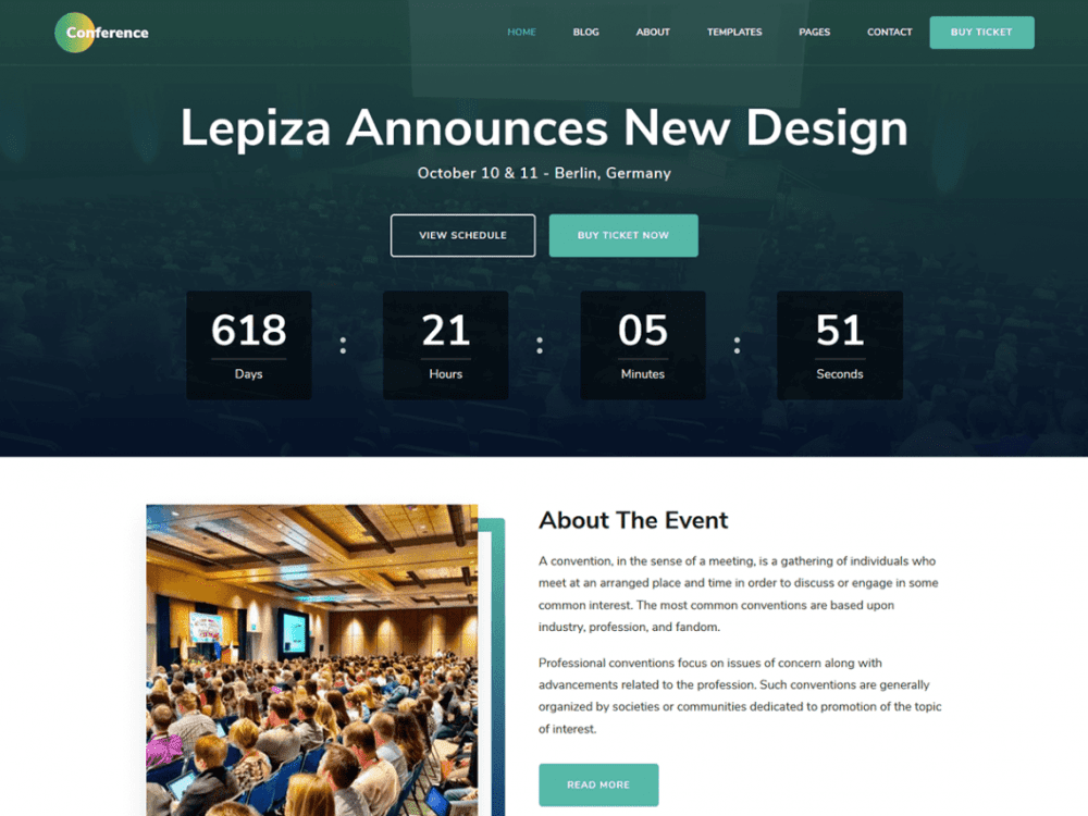 Free The Conference WordPress theme