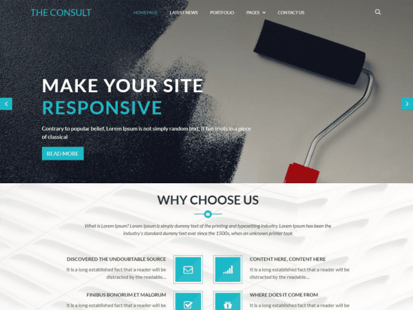 Free The Consult WordPress theme