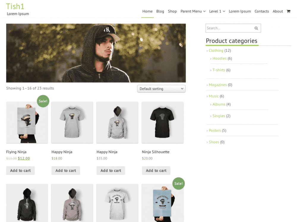 Free Tish1 WordPress theme