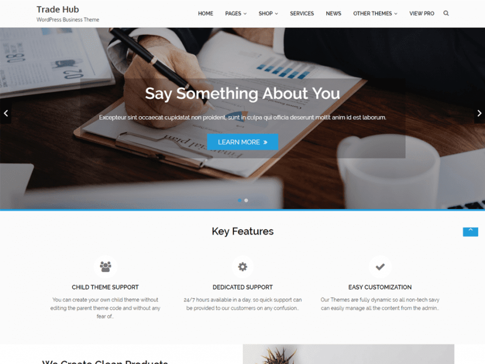 Free Trade Hub WordPress theme