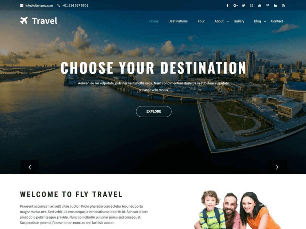 Free Travia WordPress theme