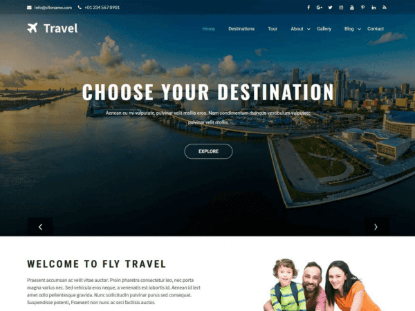 Free Travia WordPress theme