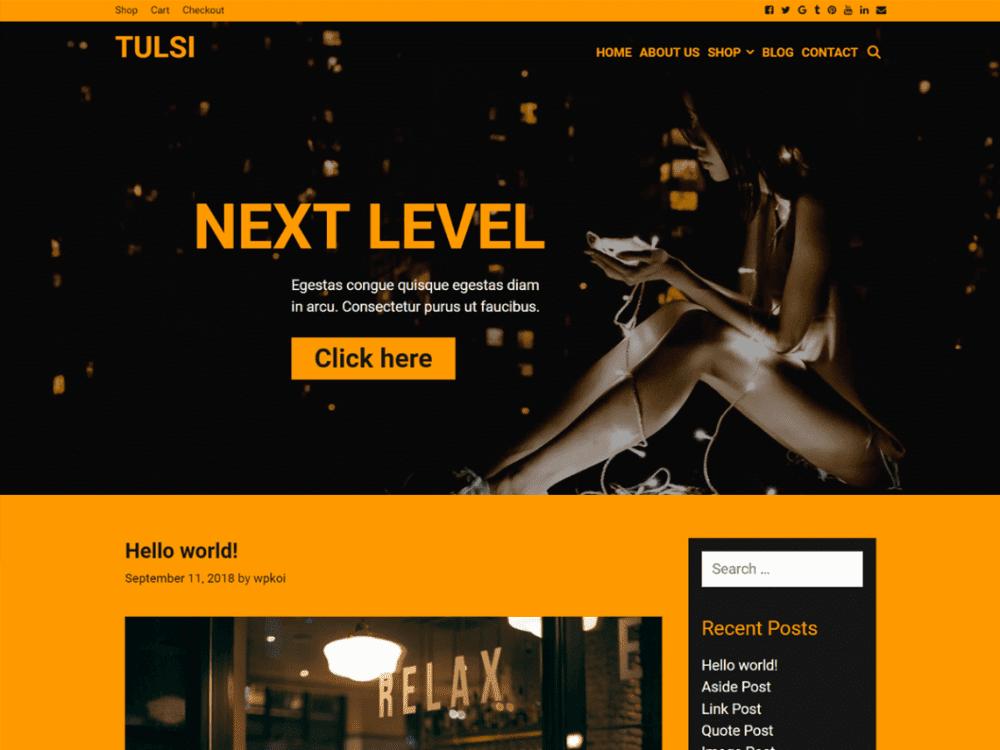 Free Tulsi WordPress theme
