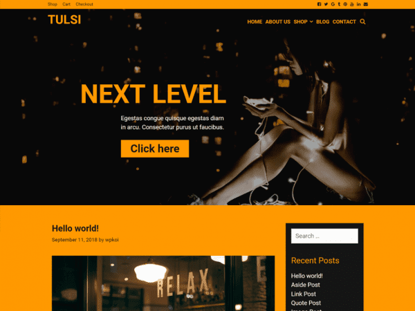 Free Tulsi WordPress theme