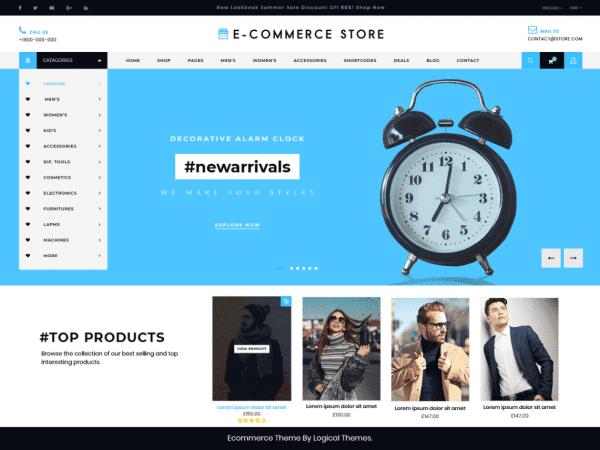 Free Ultimate Ecommerce Shop WordPress theme