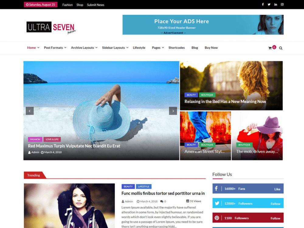 Free Untra Seven WordPress theme