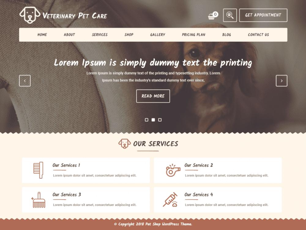 Free Veterinary WordPress theme
