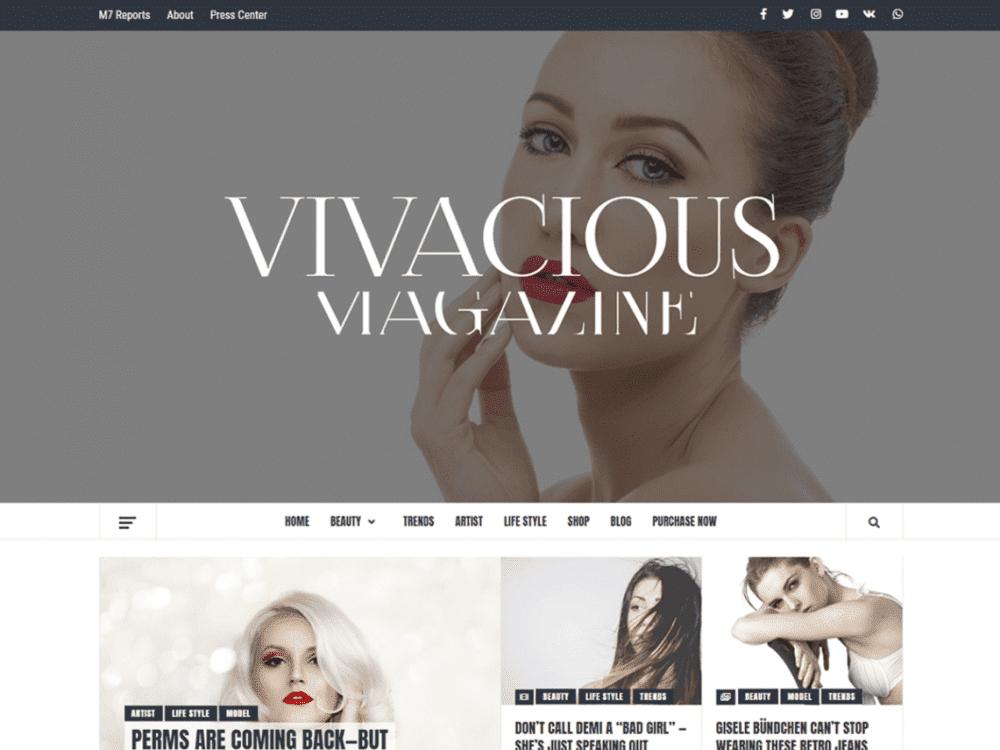 Free Vivacious Magazine WordPress theme