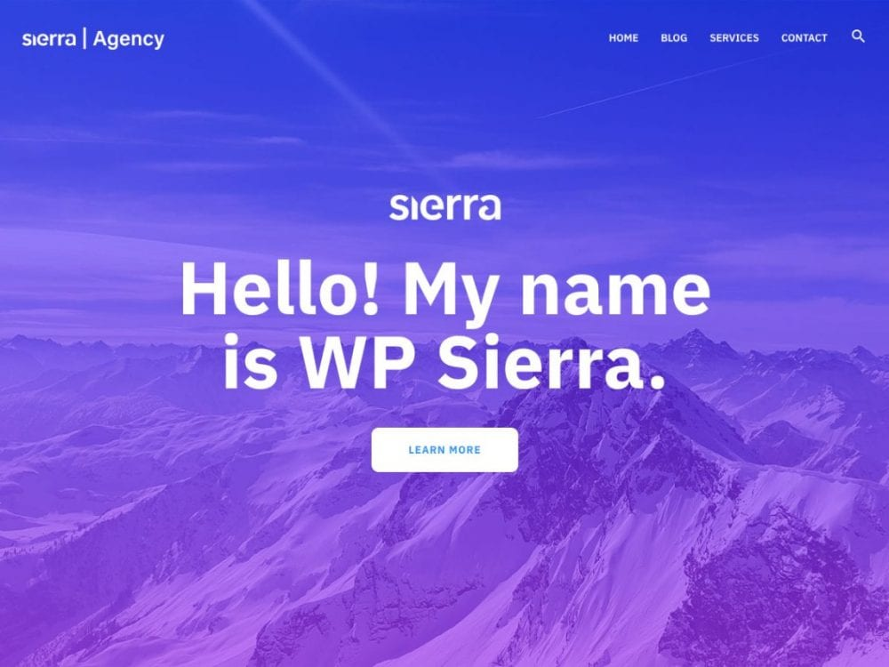 Free WP Sierra WordPress theme