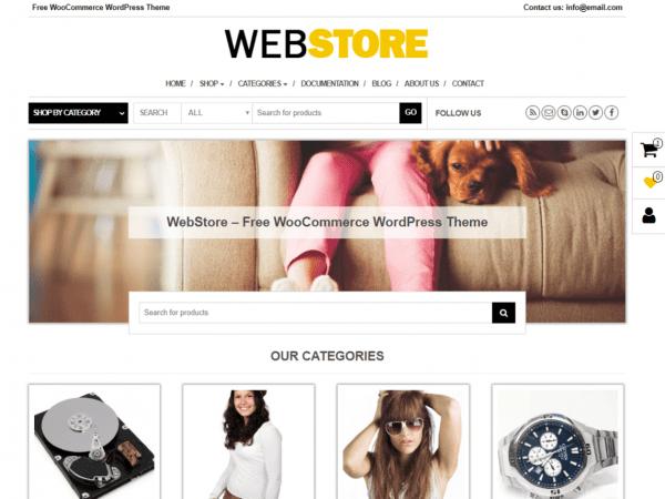 Free WebStoreWordPress theme