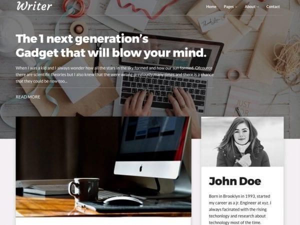 Free Writer Blog WordPress theme