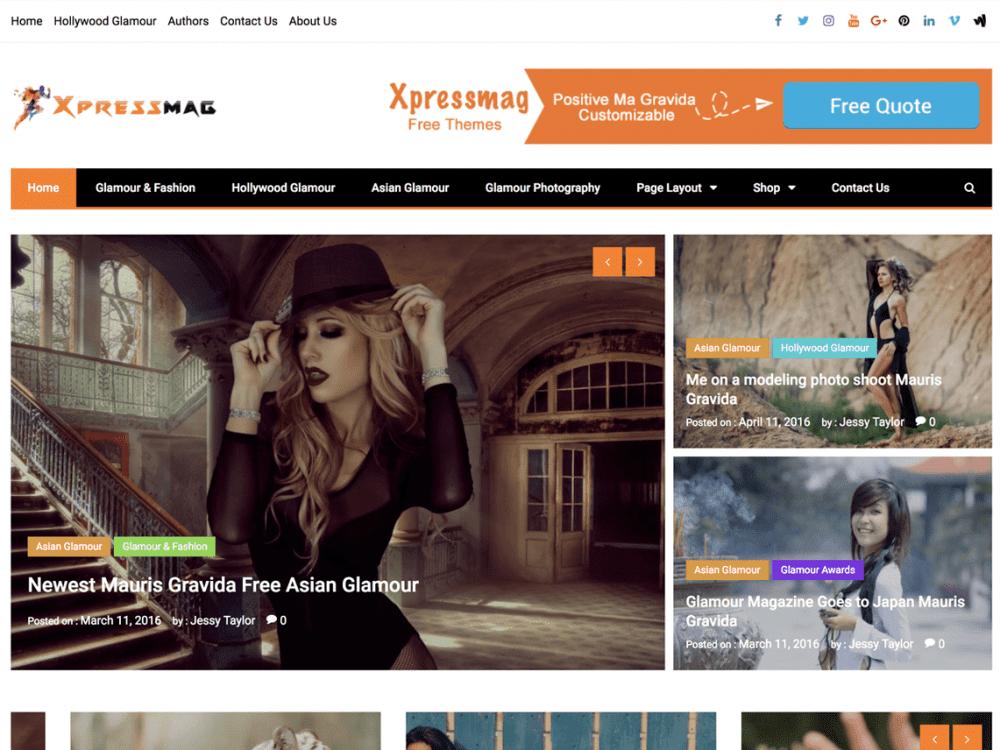Free Xpressmag WordPress theme