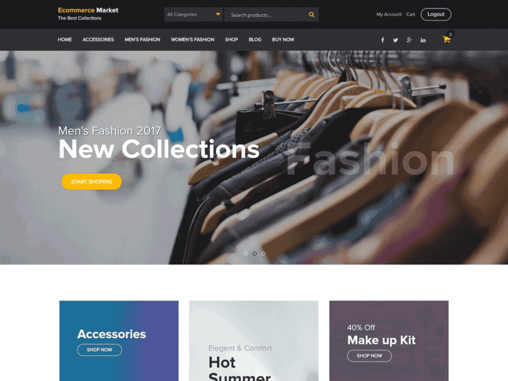 Free eCommerce Market WordPress theme