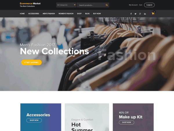 Free eCommerce Market WordPress theme
