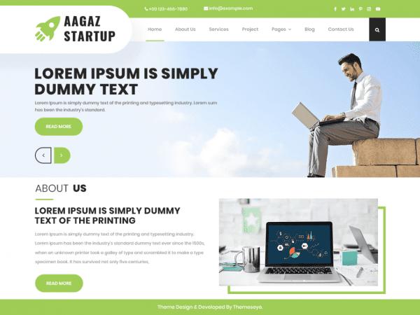 Free Aagaz Startup WordPress theme
