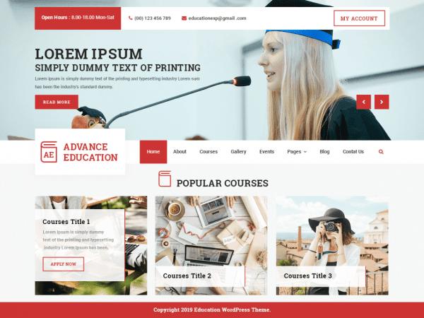 Free Advance Education WordPress theme