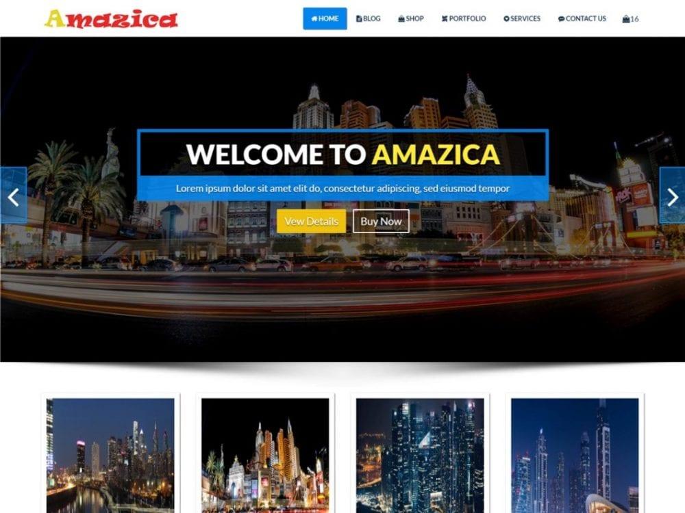 Free Amazica WordPress theme