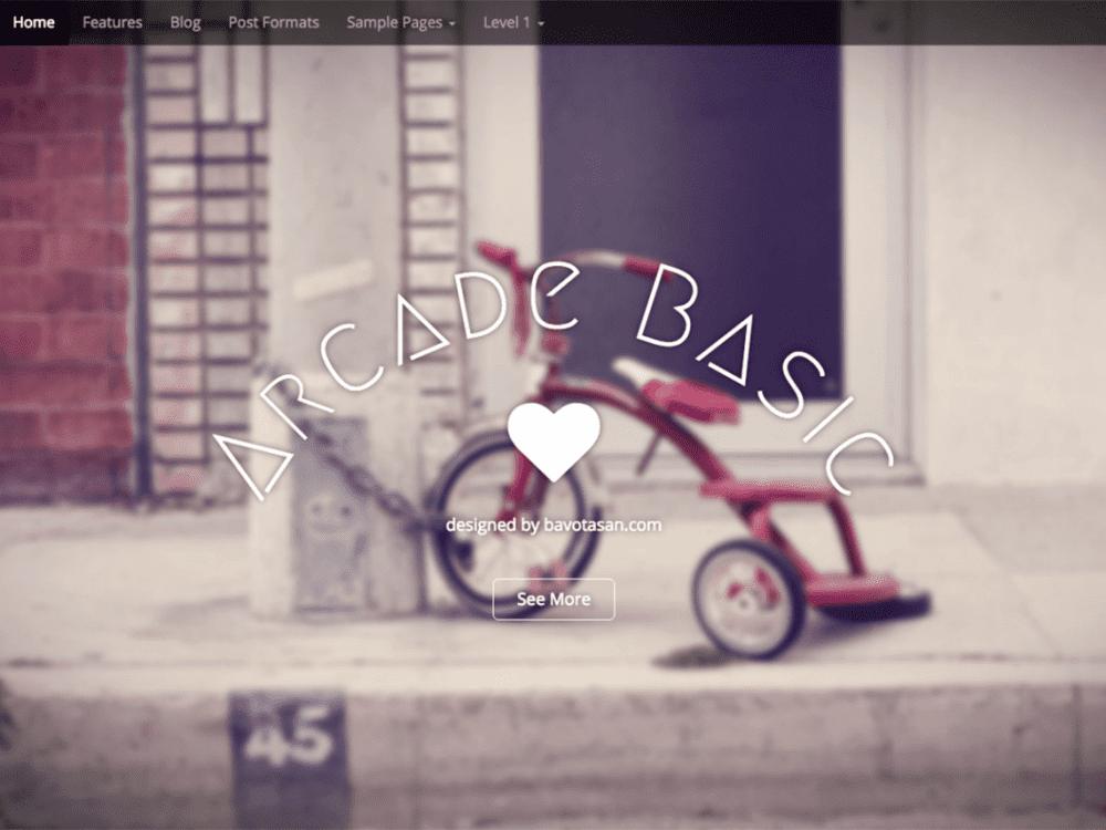 Free Arcade Basic WordPress theme