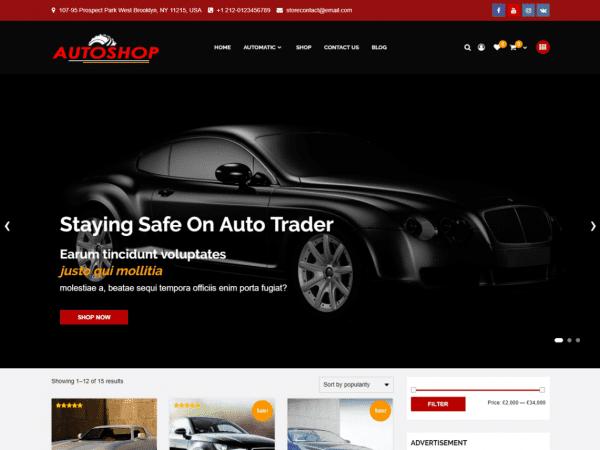 Free Autoshop WordPress theme