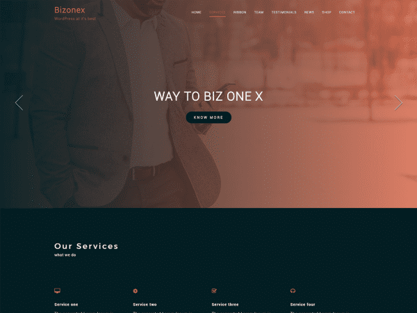 Free Bizonex WordPress theme