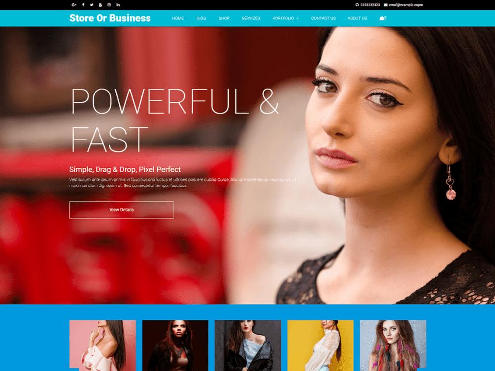 Free Blazing WordPress theme