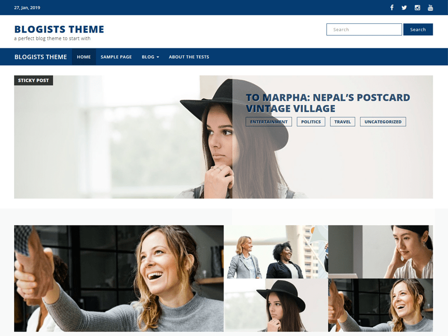 Free Blogists WordPress theme