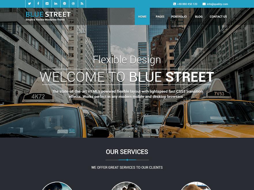 Free Bluestreet WordPress theme