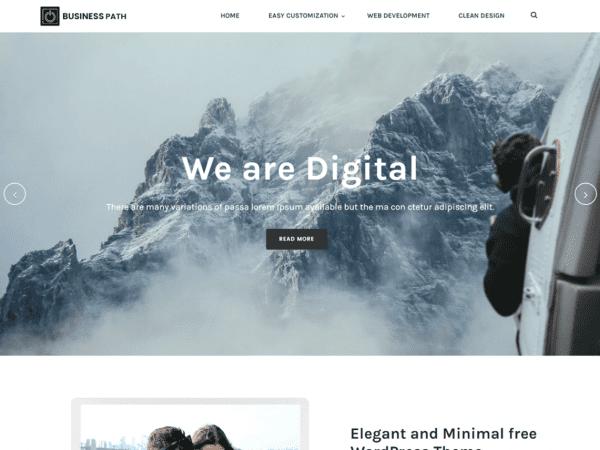 Free Business Path WordPress theme