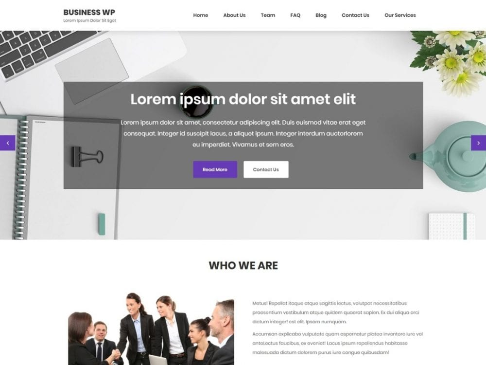 Free Business Wp WordPress Plugin