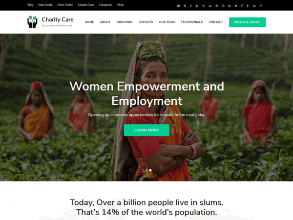 Free Charity Care wordPress theme