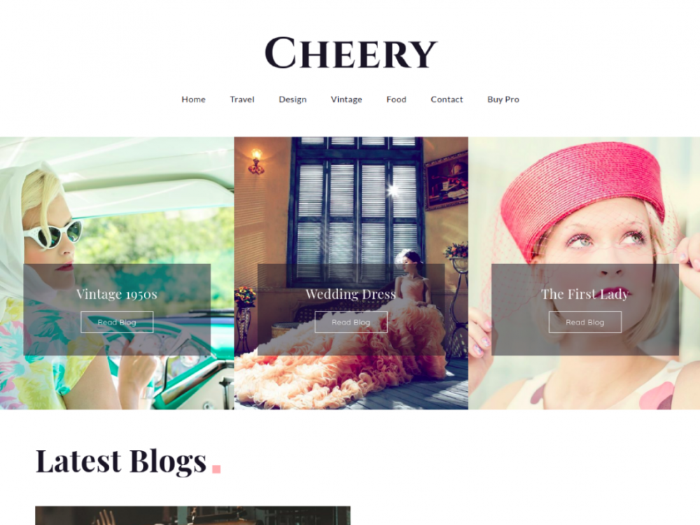 Free Cheery WordPress theme