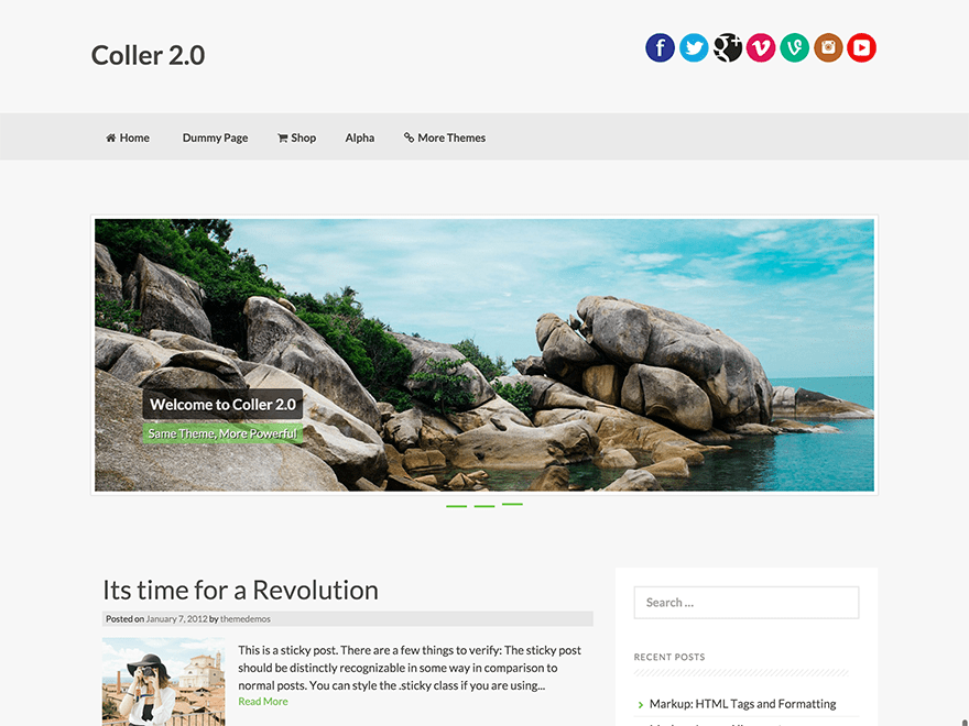 Free Coller WordPress theme