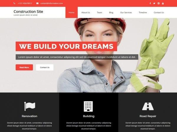 Free Construction Building WordPress theme