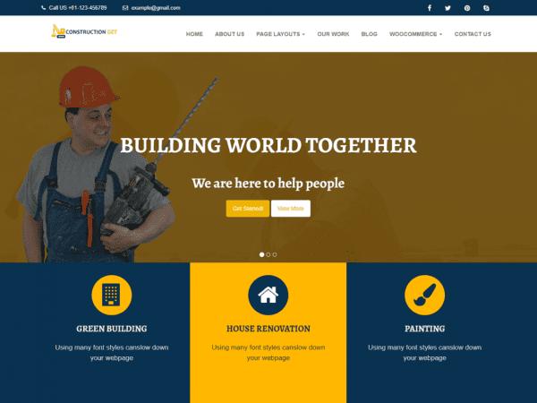 Free Construction Get WordPress theme