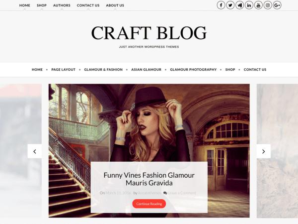 Free Craft Blog WordPress theme