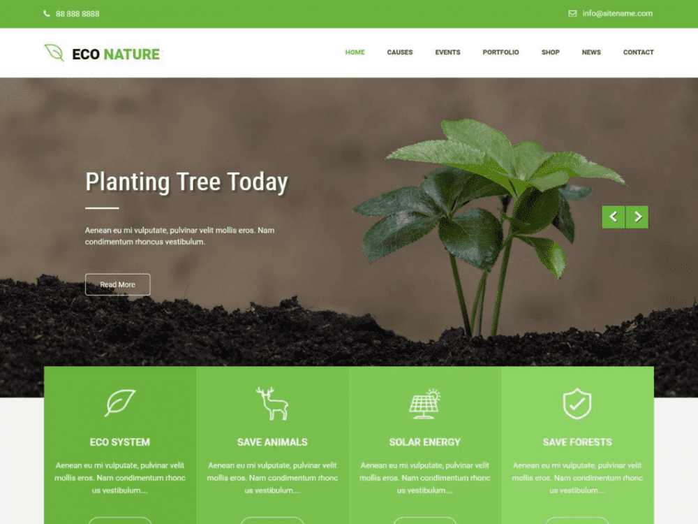 Free Econature Lite WordPress theme