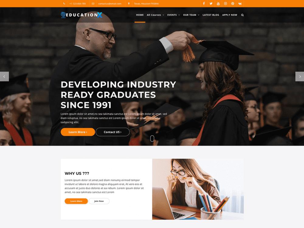 Free Education X WordPress theme